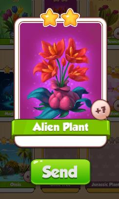 Alien Plant Card - Plants Set - from Coin Master Cards