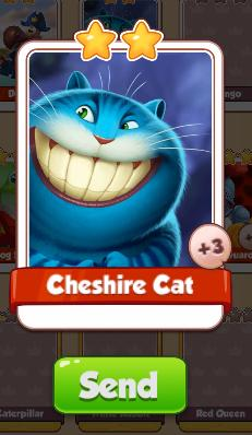 Cheshire Cat Card - Alice Set - from Coin Master Cards