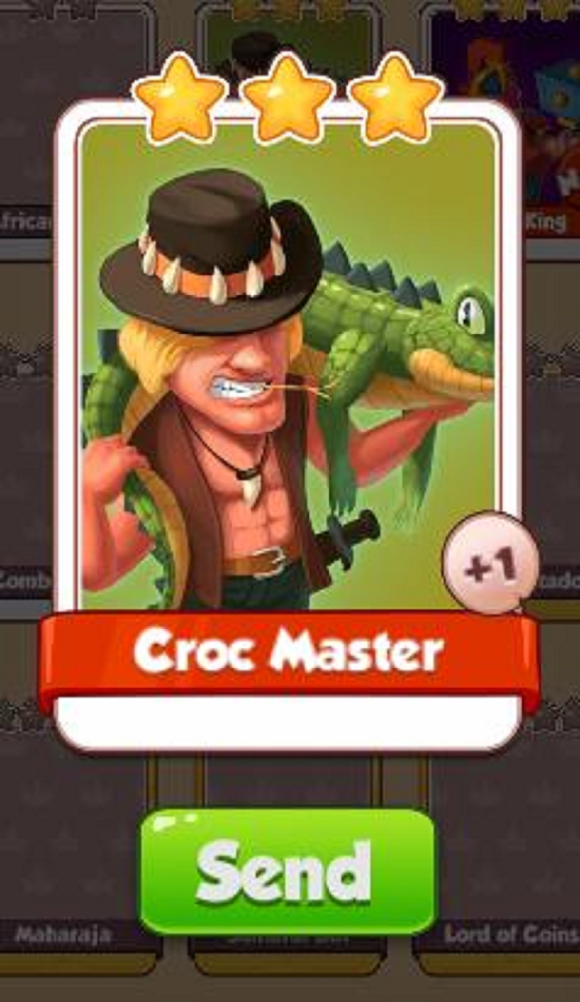 Croc Master Card - Heroes Set - from Coin Master Cards