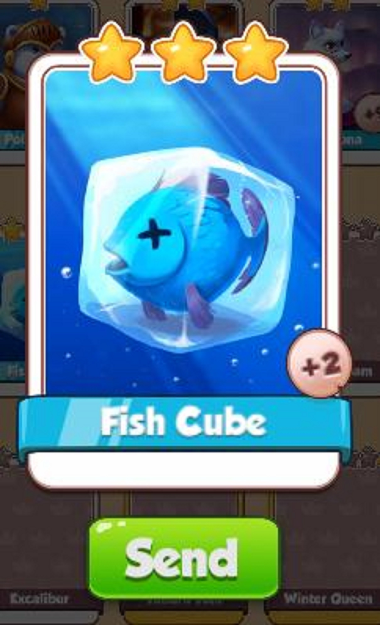 Fish Cube Card - Ice Queen Set - from Coin Master Cards