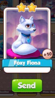 Foxy Fiona Card - Ice Queen Set - from Coin Master Cards