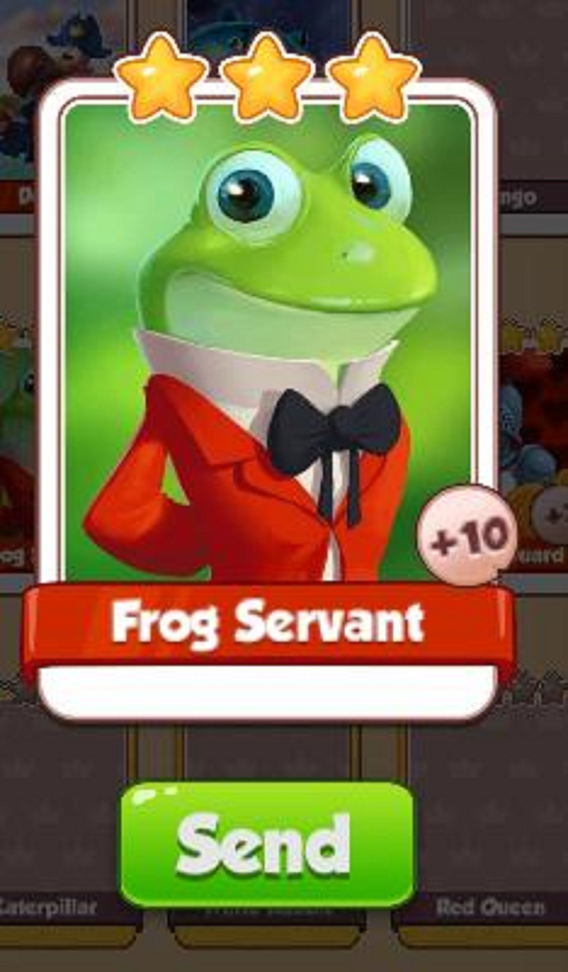 Frog Servant Card - Alice Set - from Coin Master Cards