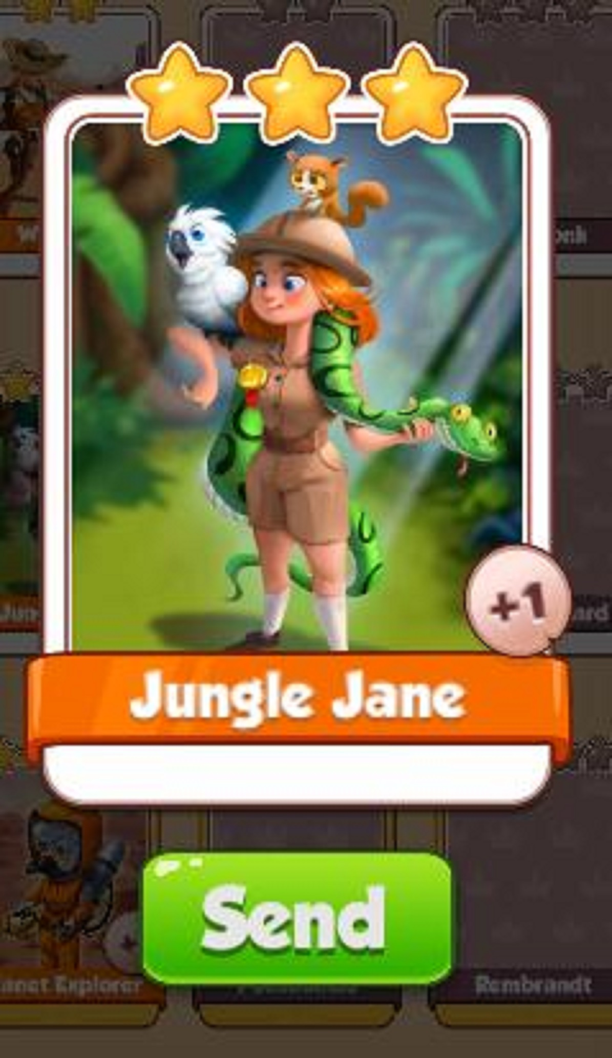 Jungle Jane - Legends Set - from Coin Master Cards