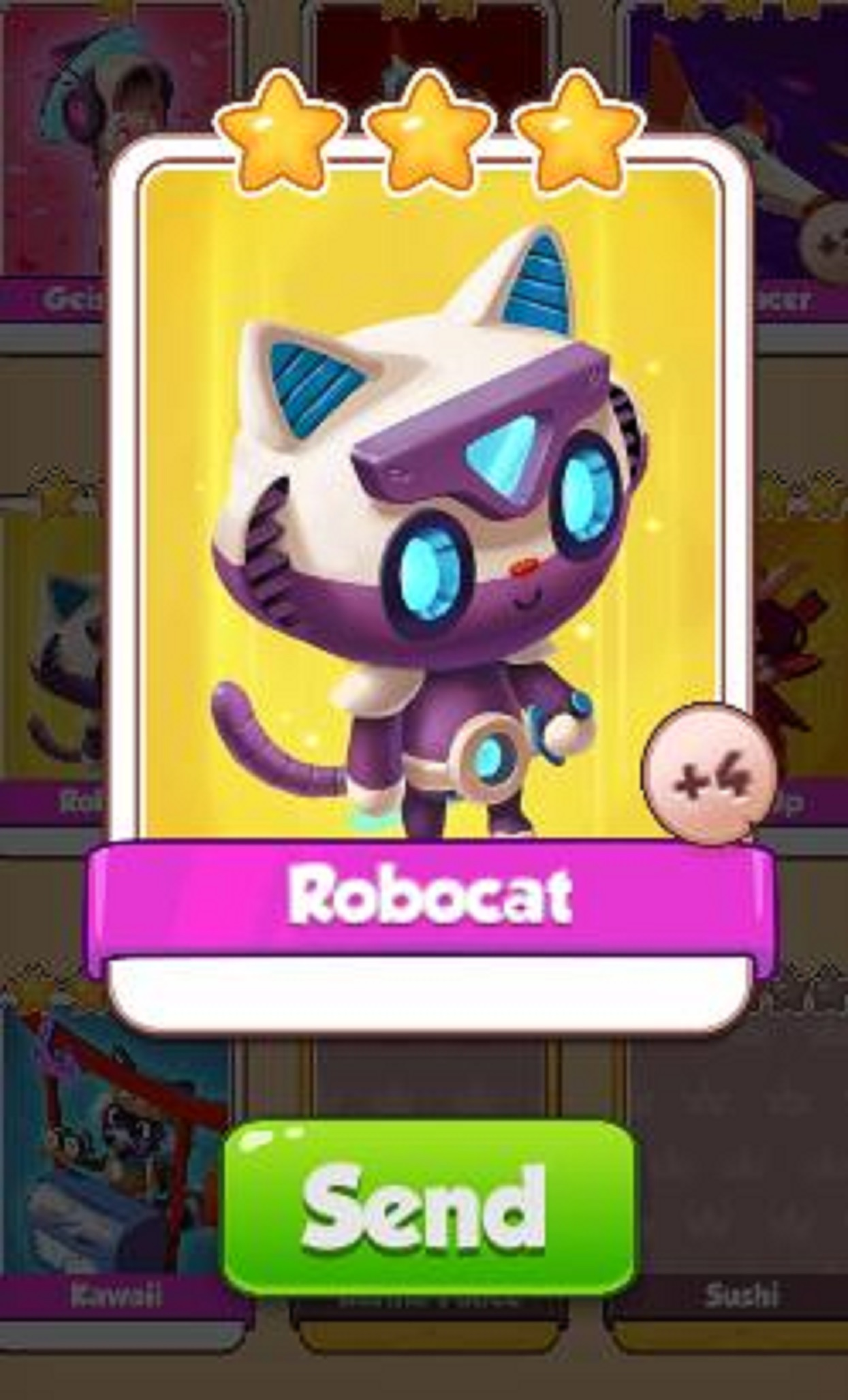 Robocat Card - Japan Set - from Coin Master Cards