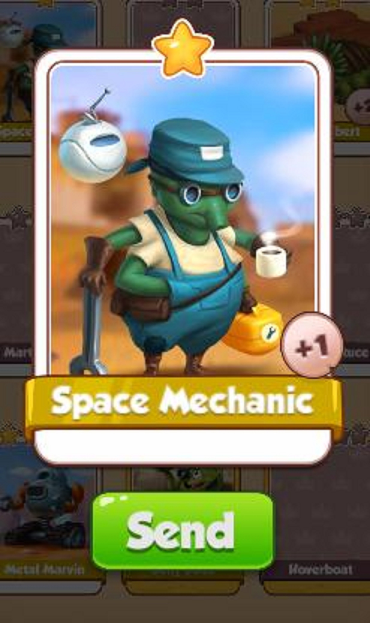 Space Mechanic Card - Sand Land Set - from Coin Master Cards