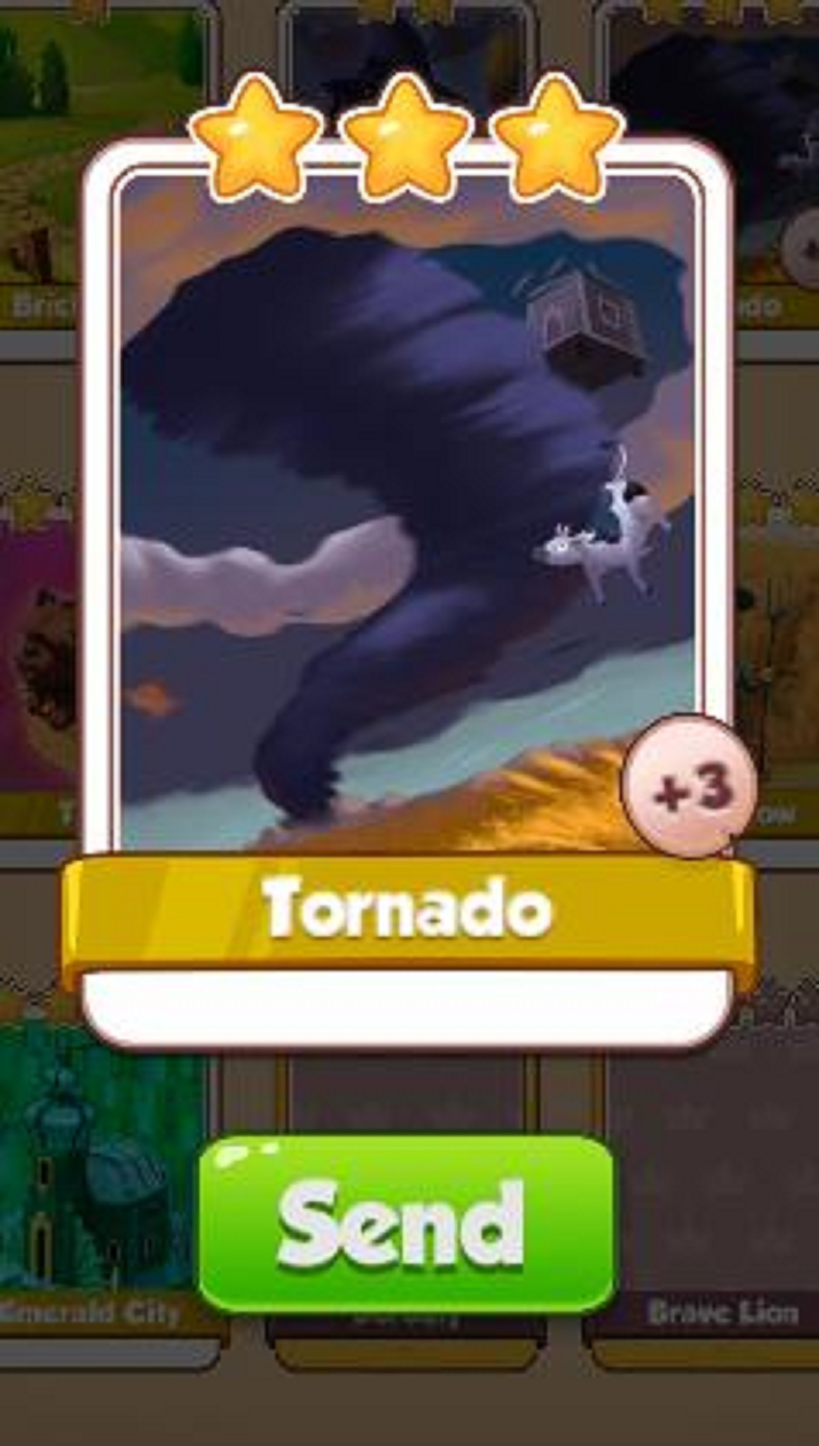 Tornado Card - Oz Set - from Coin Master Cards