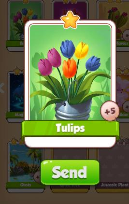 Tulips Card - Plants Set - from Coin Master Cards