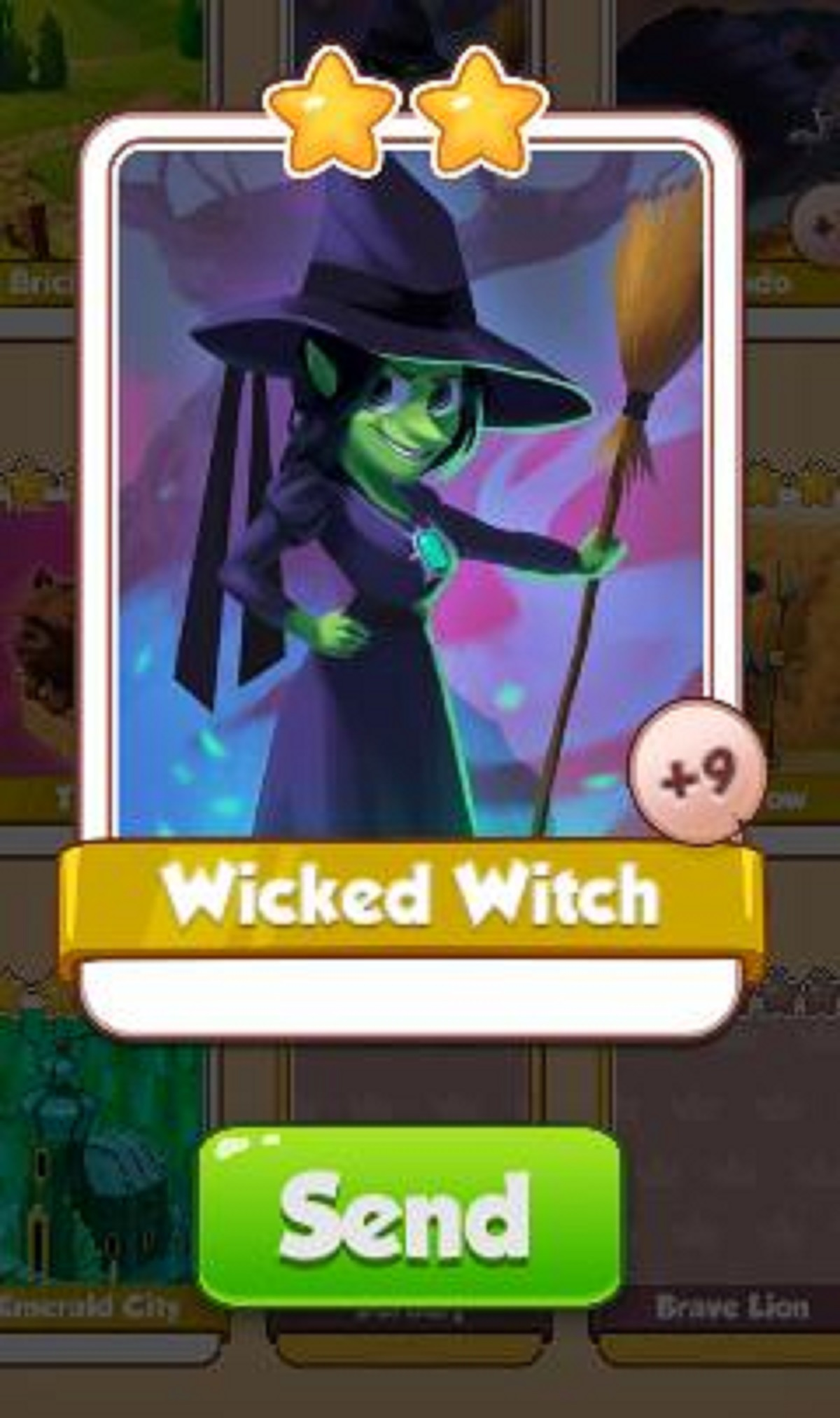 Wicked Witch Card - Egypt Set - from Coin Master Cards