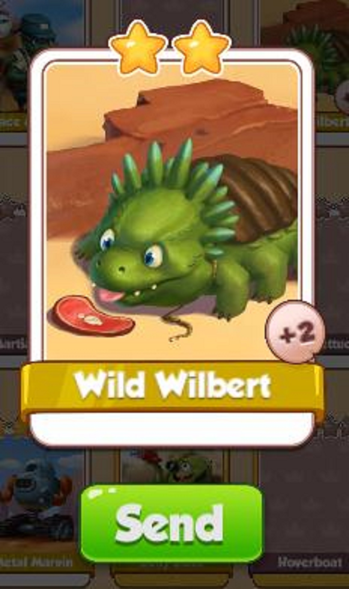 Wild Wilbert Card - Sand Land Set - from Coin Master Cards